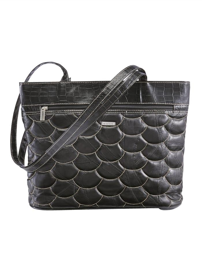 STEFANO Väska i äkta skinn, svart