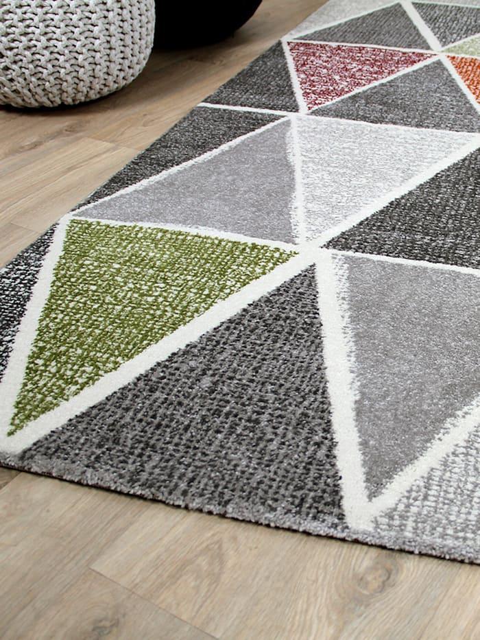 Designer Teppich Sevilla Modern Grau Bunt Prisma