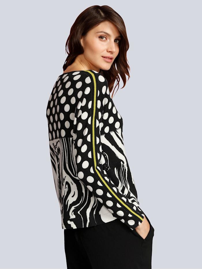 Pullover allover im Schwarz-Weiß Muster