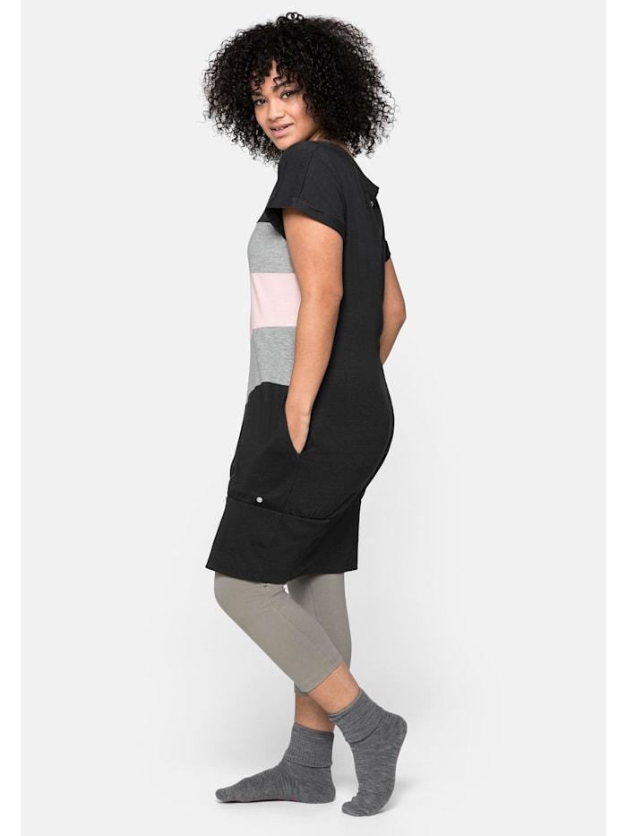 Sheego Shirtkleid im Colourblocking-Look