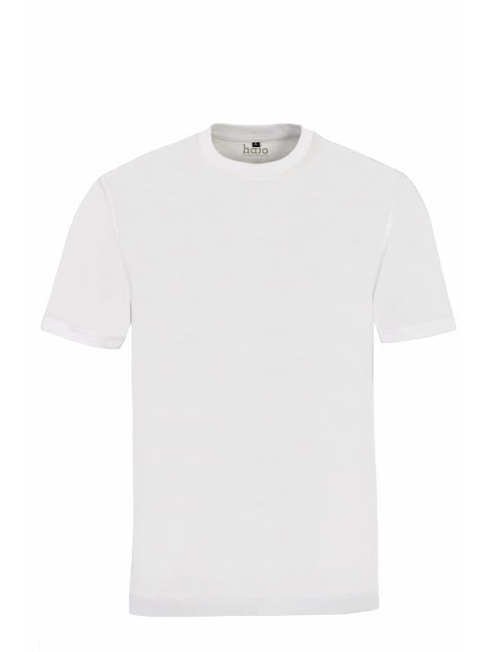 Hajo T-Shirt Doppelpack Rundhals, weiß