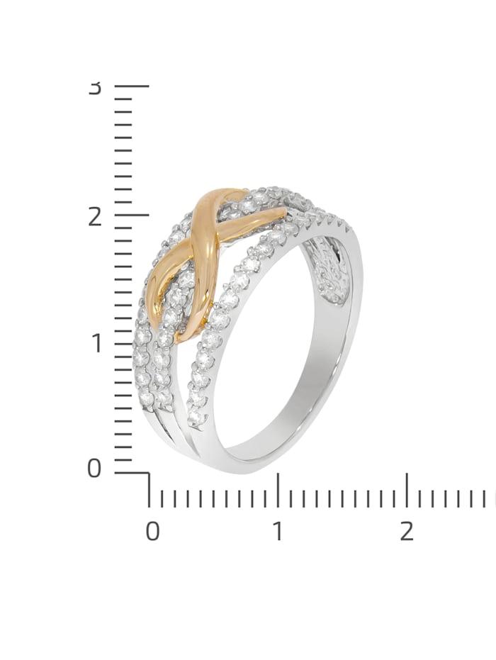 Ring 925/- Sterling Silber Zirkonia weiß Glänzend