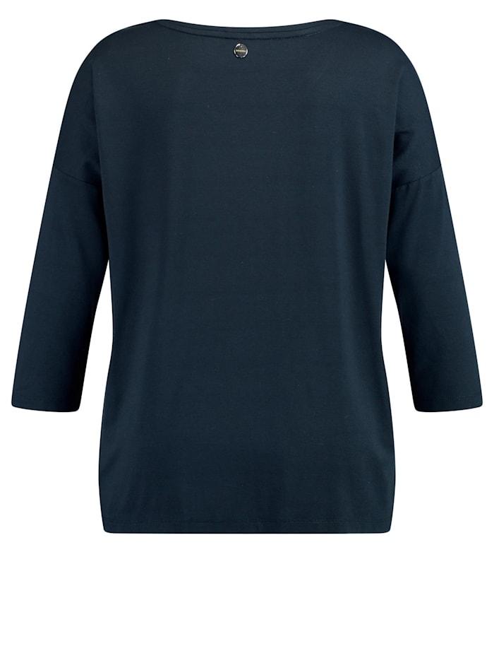 3/4 Arm Shirt mit Satin-Front