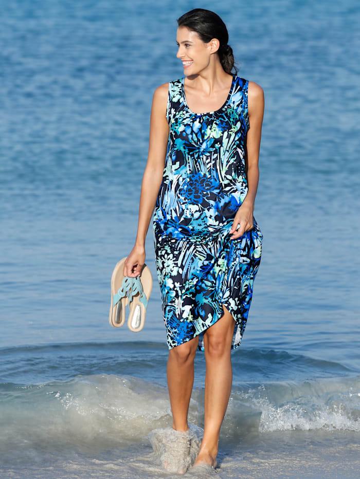 Schwab Bademoden Strandkleid im modischen Druckdesign, Blau/Grün