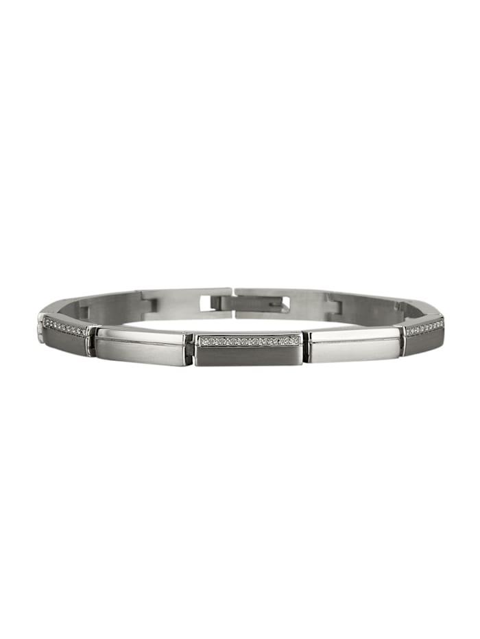 Armband i titan, Silverfärgad