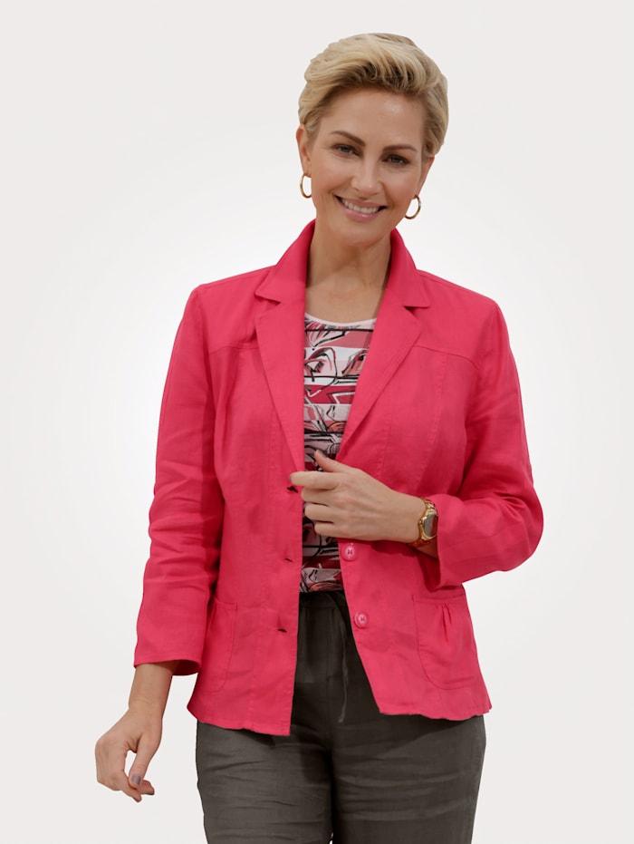 Barbara Lebek Leinen-Blazer, Koralle