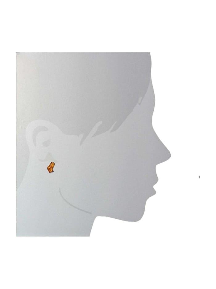 Ohrstecker - kleiner Elefant - Silber 925/000 - Bernstein