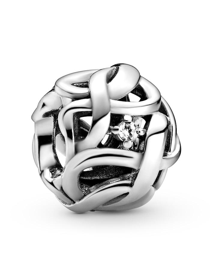 Pandora Charm -Durchbrochene gewebte Unendlichkeit- 798824C01, Silberfarben