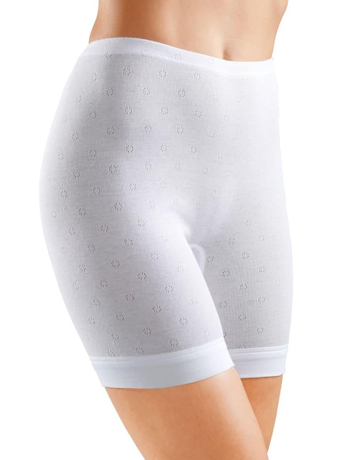 Speidel Langbeinschlüpfer mit Ajour-Muster, 3x weiß