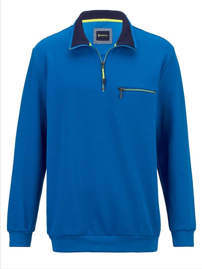 BABISTA Sweatshirt met fijne ribstructuur, Royal blue