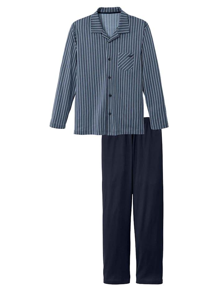 Calida Pyjama, durchgeknöpft Ökotex zertifiziert, dark sapphire