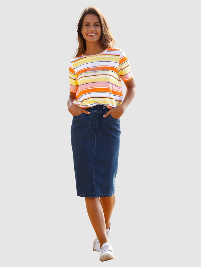 Džínsová sukňa v rovnom strihu