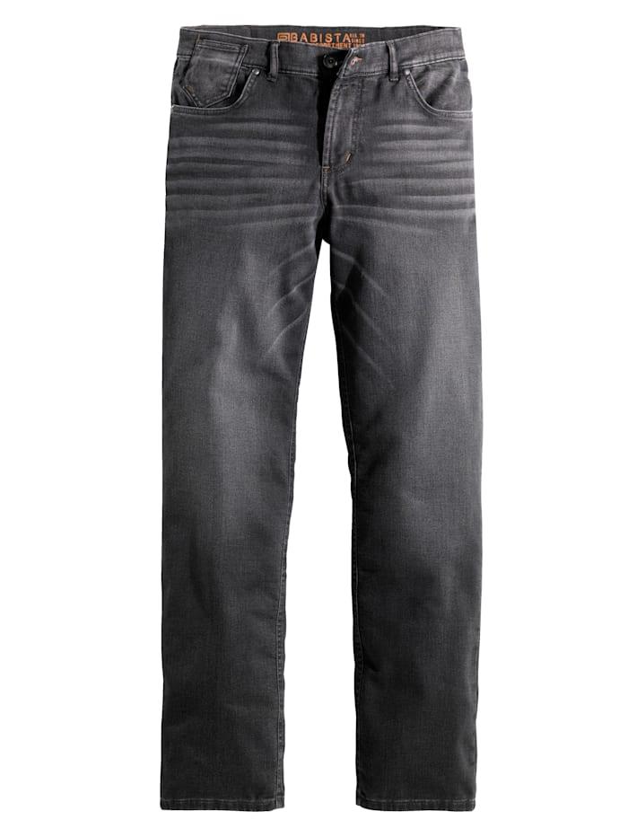 BABISTA Joggpant i mjukt tyg som ser ut som jeans, Grå