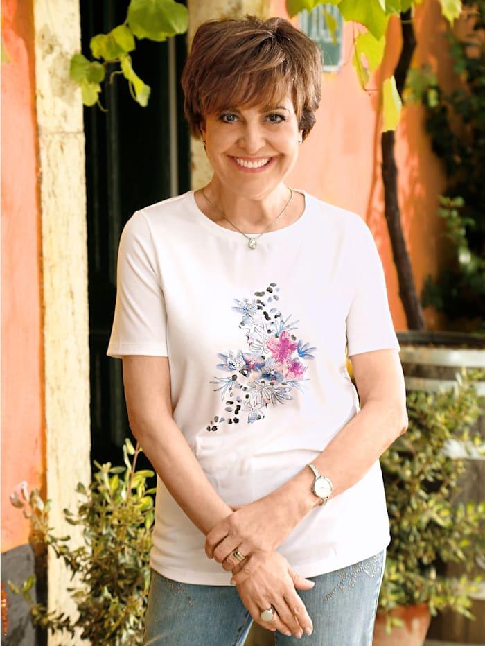 Paola Topp med blommotiv, Benvit