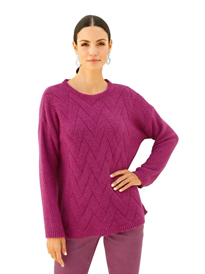 Pullover in Flecht-Optik