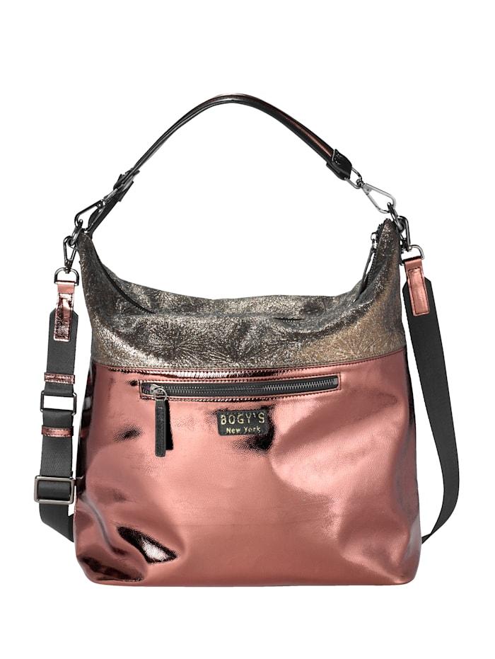 Handbag with different embellishments