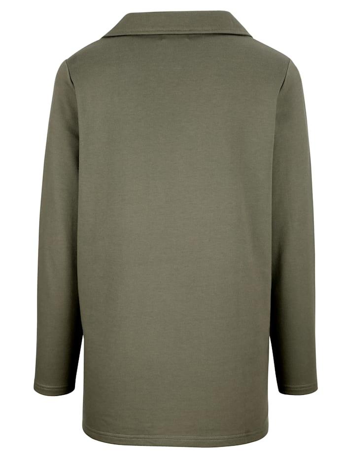 Sweatshirt mit funkelnden Steinchen und Nieten
