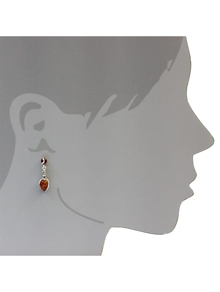 Ohrhänger - Traube - Silber 925/000 - Bernstein