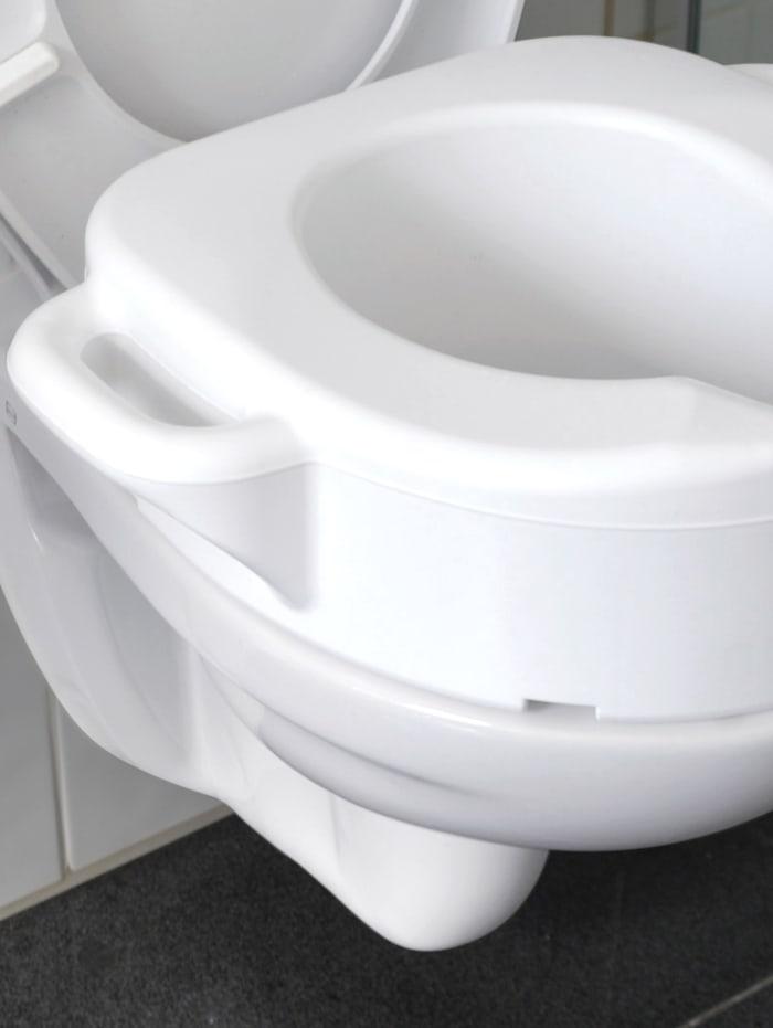 B&B Bischof Toilettensitzerhöhung mit Griffen, weiß