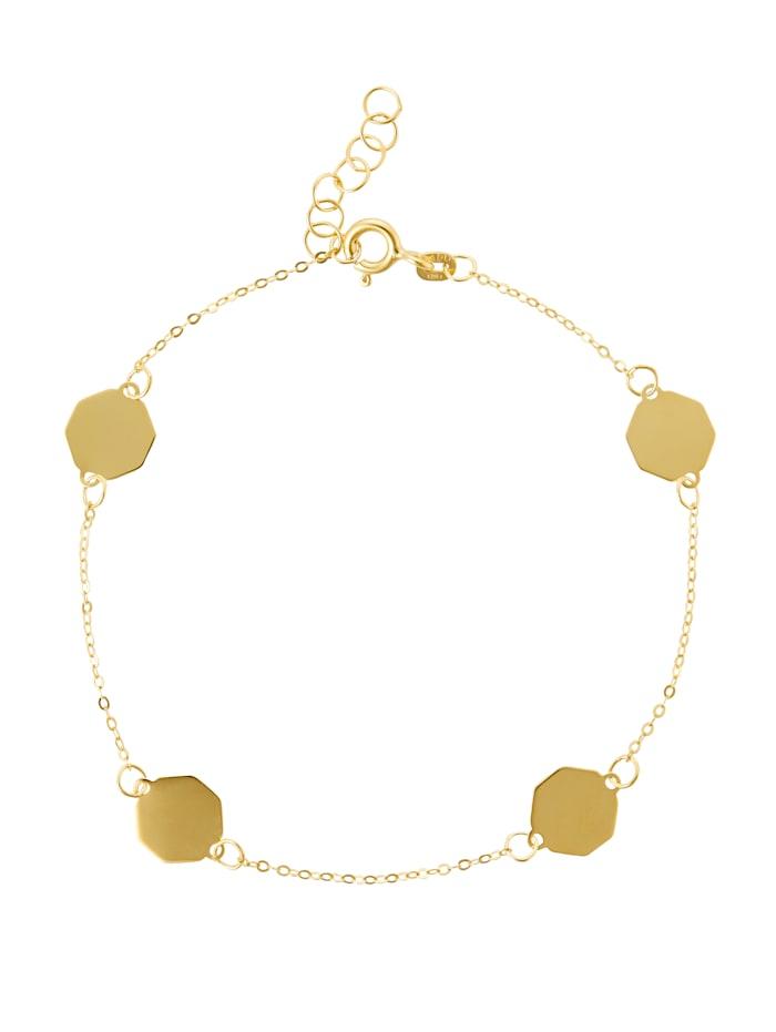 KLiNGEL Armband in Gelbgold 333, Gelbgoldfarben