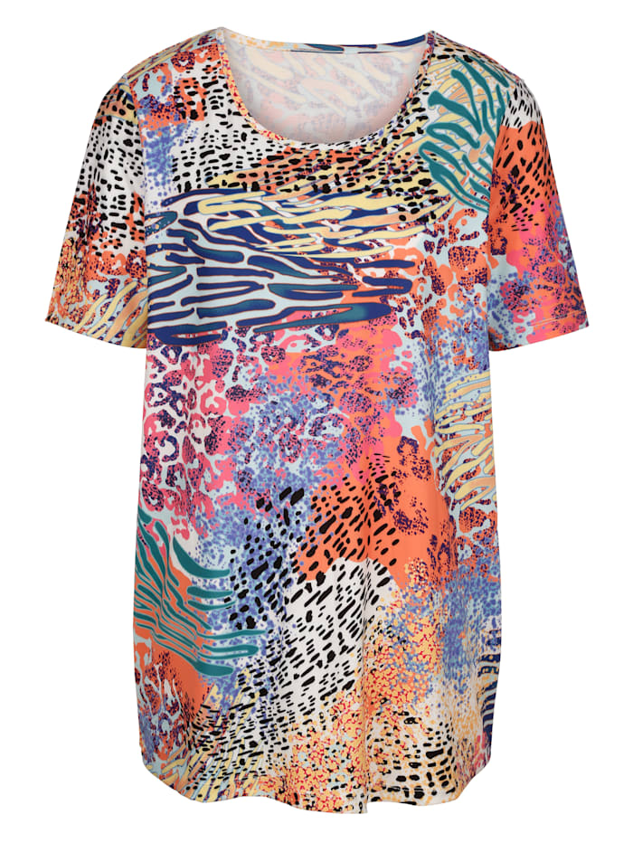 MIAMODA Shirt mit Animaldruck, Multicolor