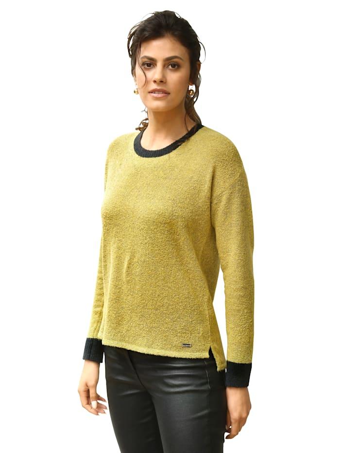 AMY VERMONT Pullover in flauschiger Qualität, Gelb