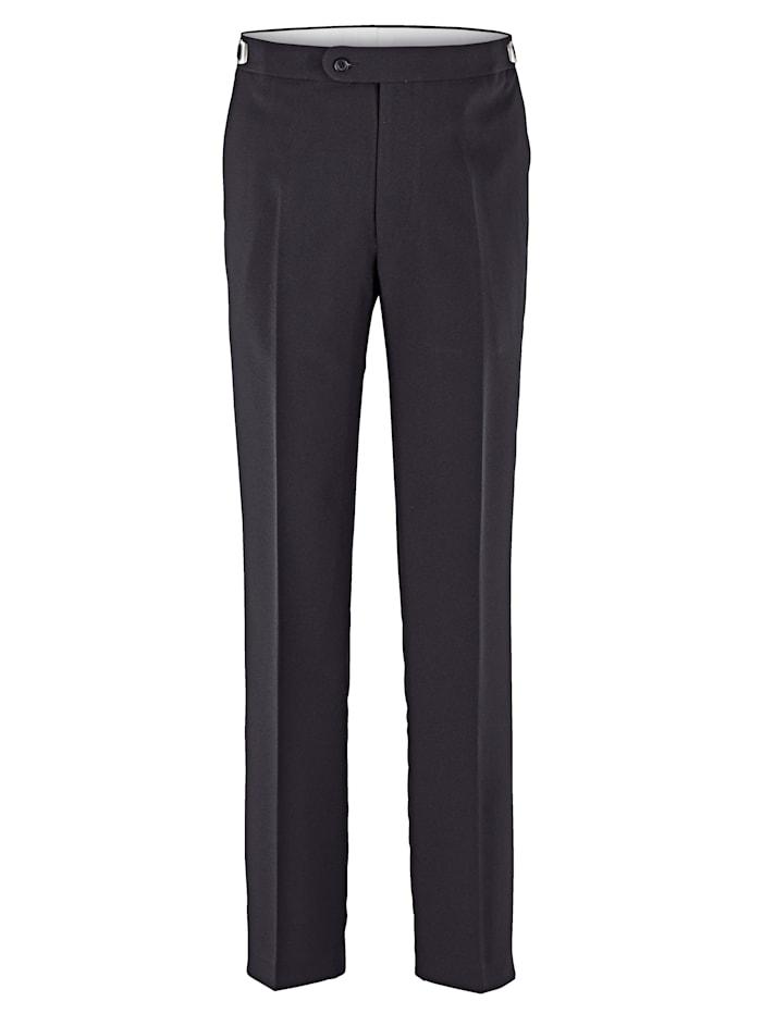 Roger Kent Pantalon à taille ajustable, Noir