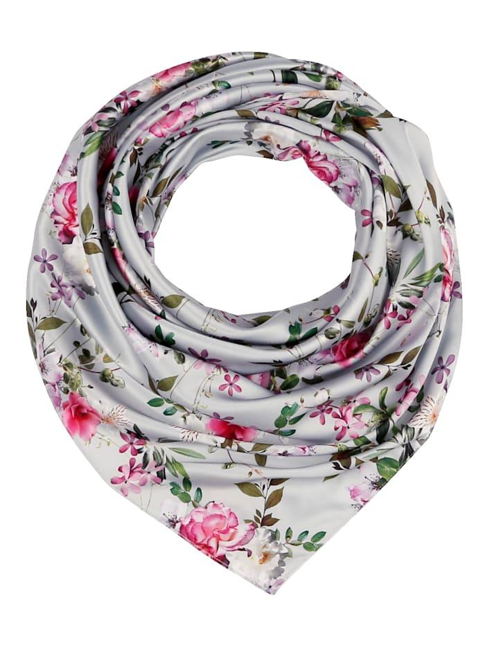 basically you Foulard en matière discrètement brillante, Vieux rose/imprimé