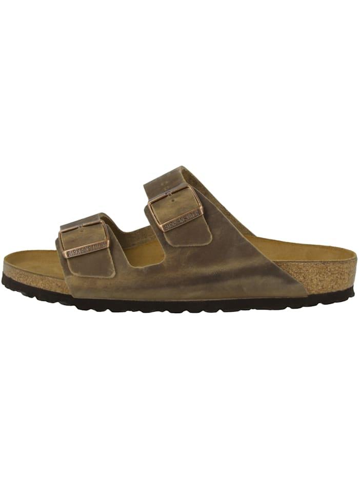 Birkenstock Sandale Arizona Nubukleder schmal, braun