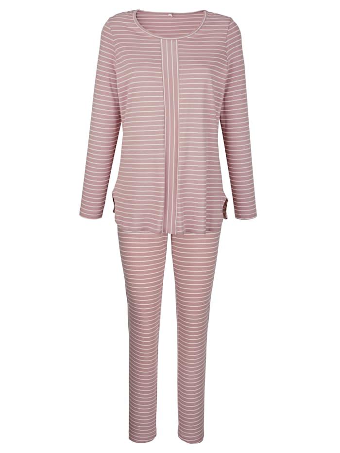 Simone Pyjama, ruusupuu/ecru