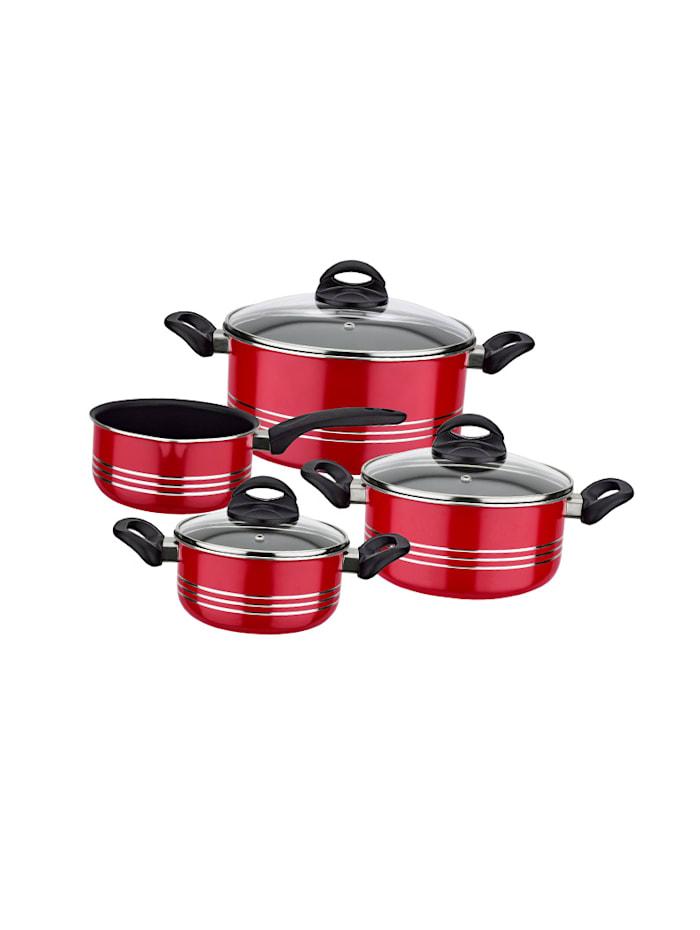 GSW Batterie cuisine 7pcs, rouge