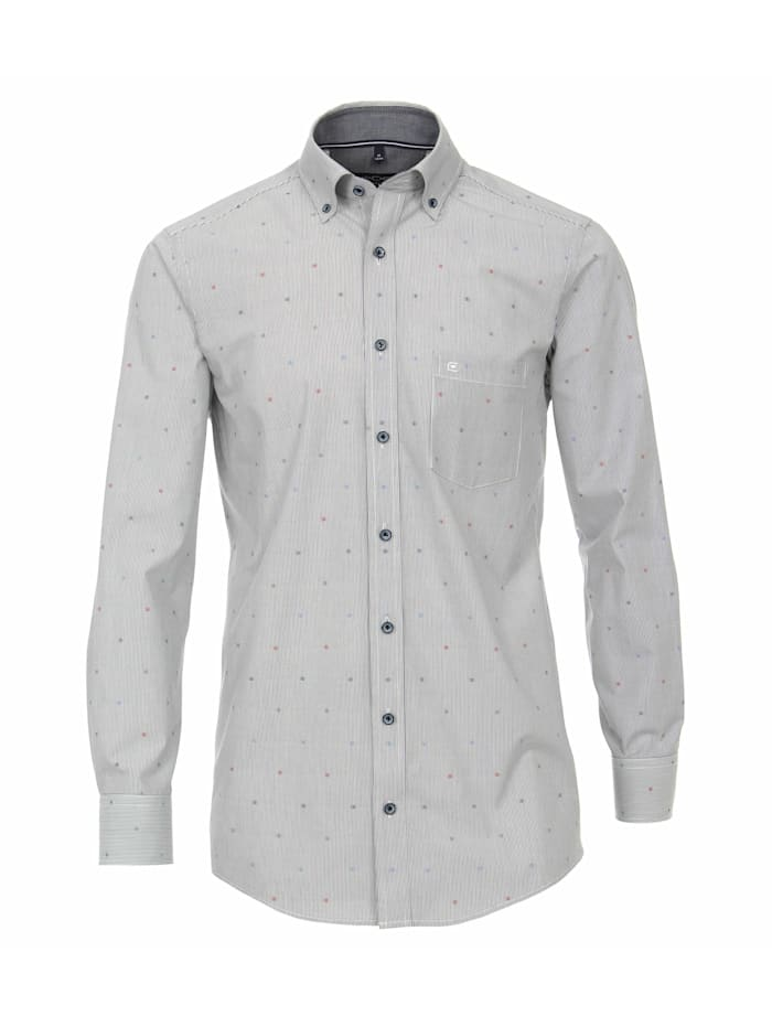 CASAMODA Hemd gestreift Comfort Fit, Mittelblau