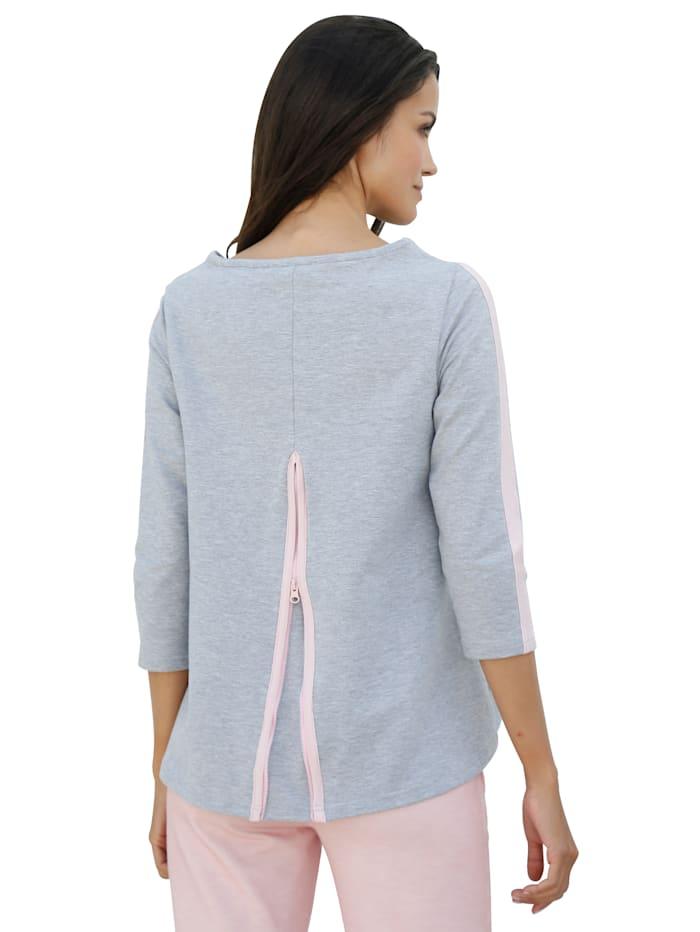 Sweatshirt med motfold