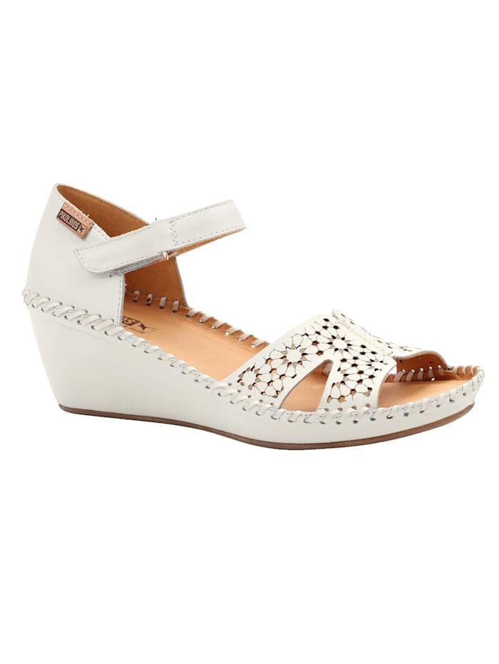 Sandales à perforations florales