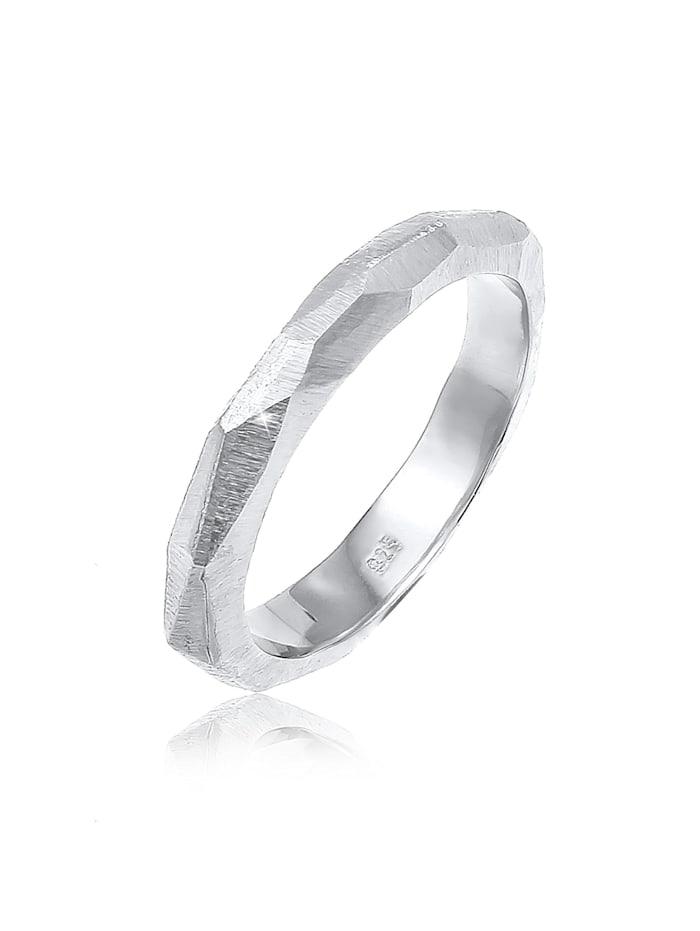 Elli Premium Ring Paarring Trauring Hochzeit Brushed 925 Silber, Silber