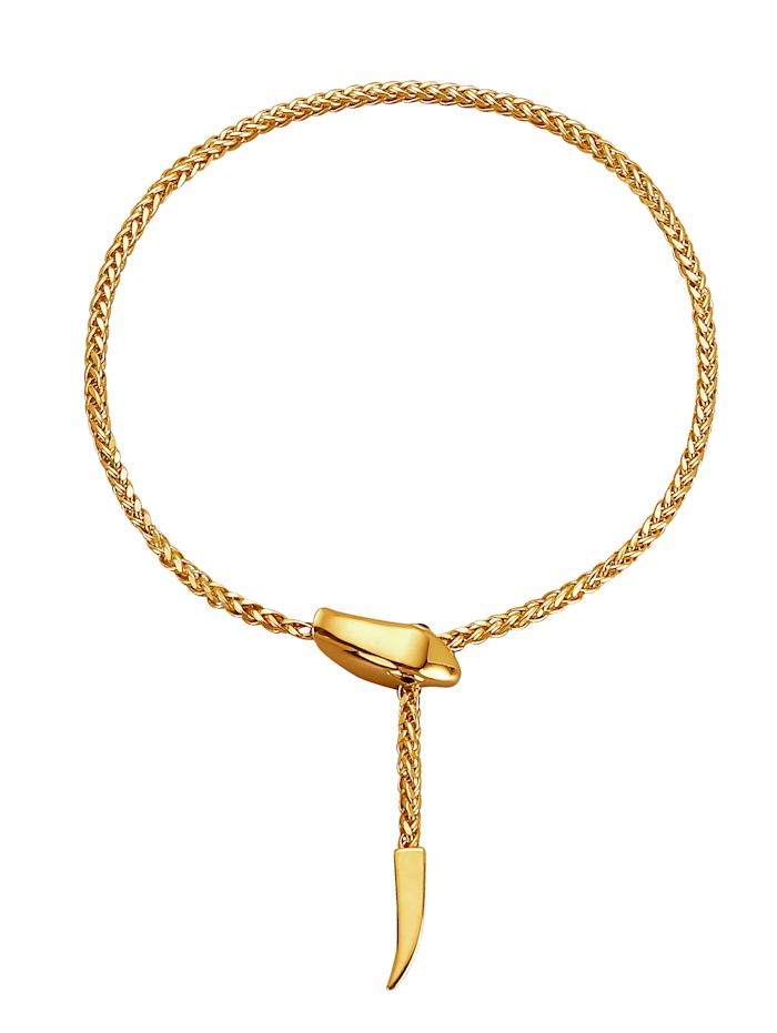 Schlangen-Armband, Gelbgoldfarben