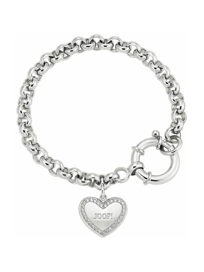 JOOP! Armband für Damen, Sterling Silber 925, Herz, Silber