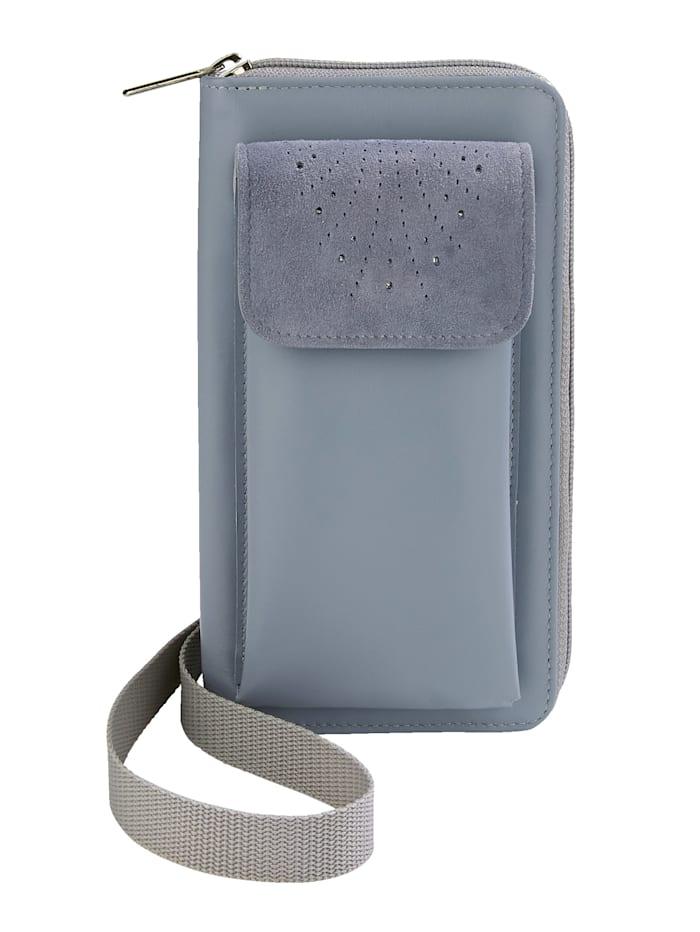 Vamos Telefoontasje incl. portemonnee, Lichtblauw