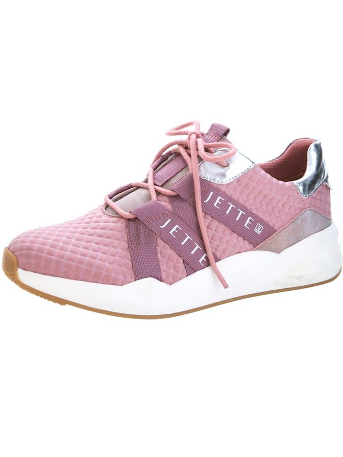 Jette Sneaker aus struckturiertem Textilmaterial, Rosé