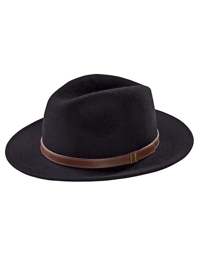 BABISTA Chapeau en feutre à bordure large, Noir