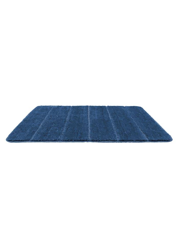 Badteppich Steps Marine Blue, 60 x 90 cm, Mikrofaser