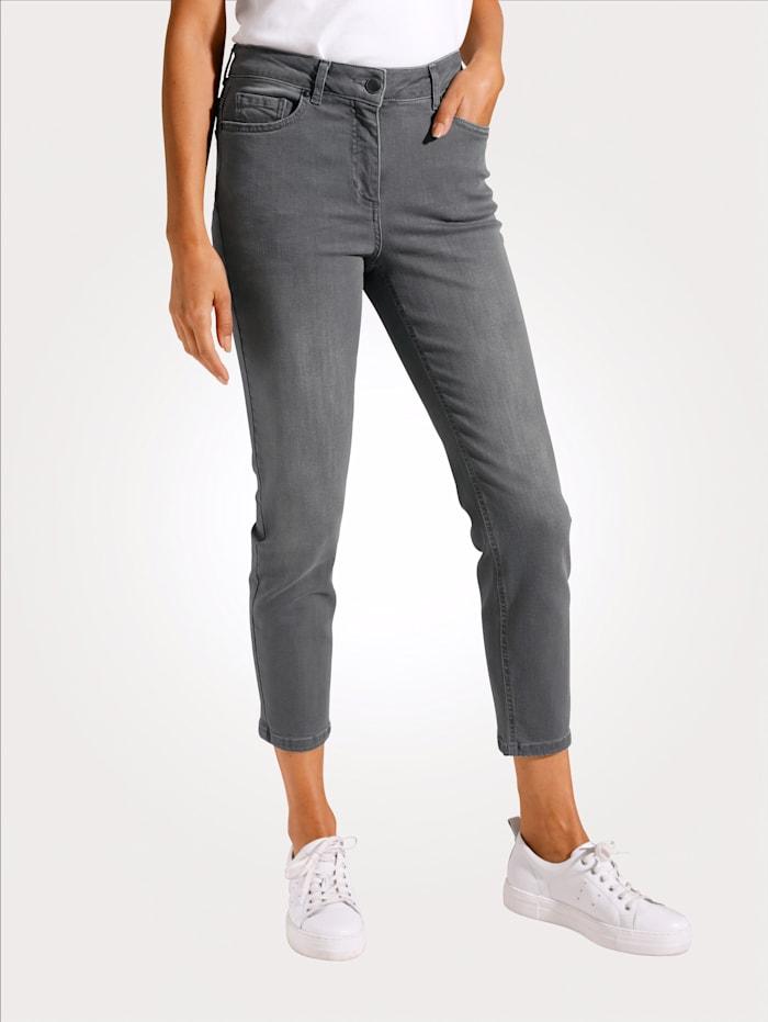 MONA 7/8-Jeans mit schmal zulaufendem Bein, Grau