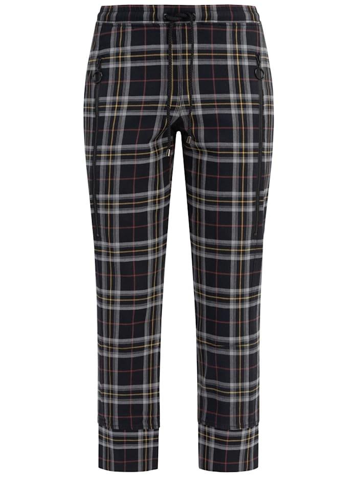 RECOVER Pants Jogpants, Schwarz-Ecru-Gelb-Rot
