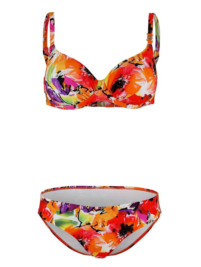 Féraud Bikini met spacercups, Multicolor
