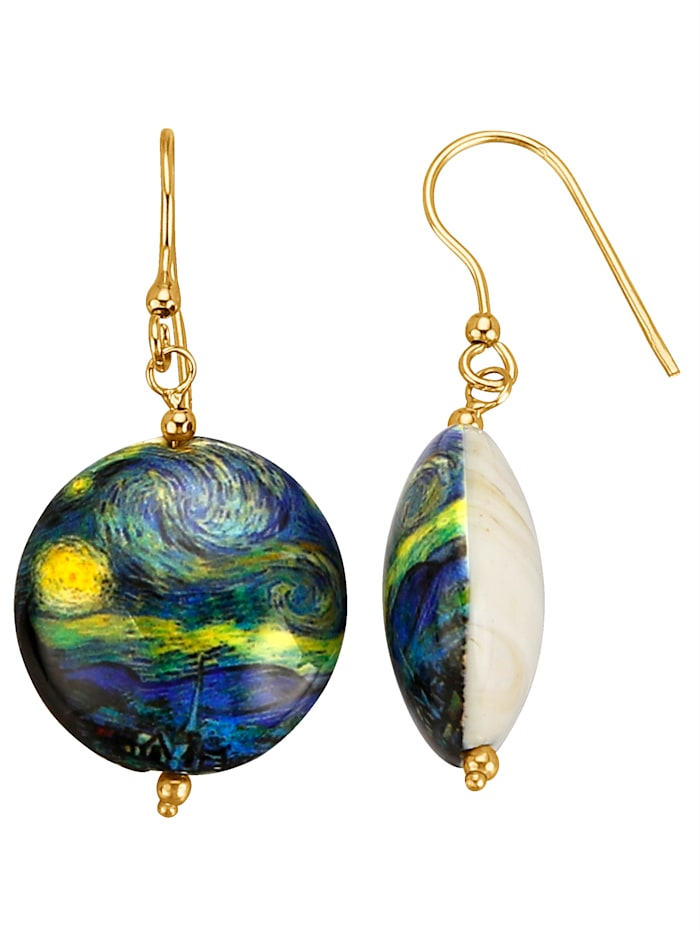Diemer Gold Muranoglas-Ohrhaken, Multicolor