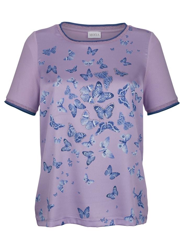 Shirt mit Schmetterlingsdruck