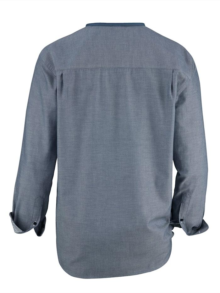 Skjorta i melerat material