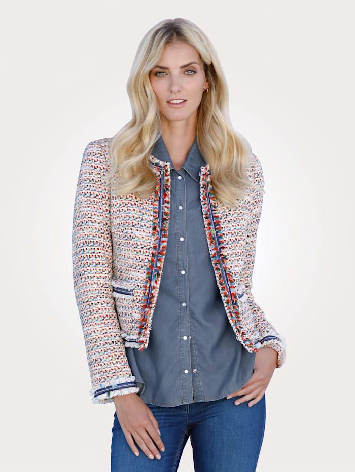 MONA Blazer in a multicoloured bouclé fabric, Multi