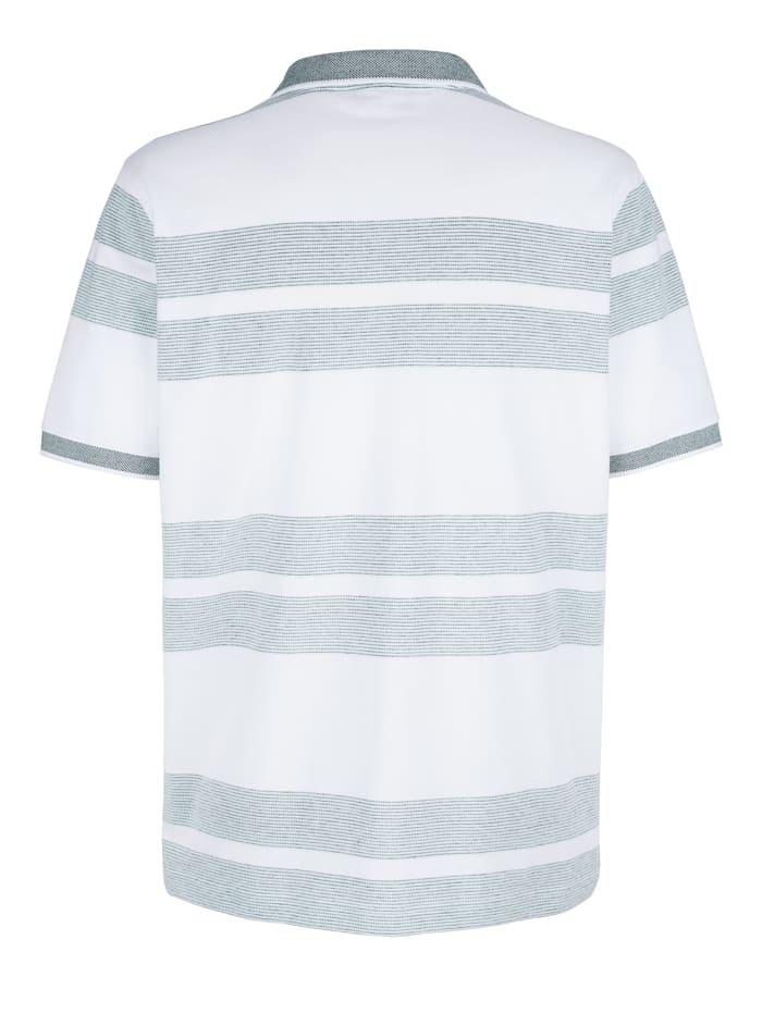Poloshirt mit Jacquard-Streifenmuster
