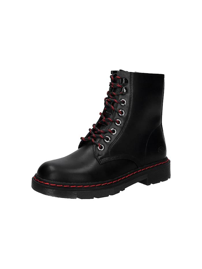Dockers Schnürstiefeletten, schwarz/rot